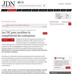 """Les TIC pour accélérer la compétitivité des entreprises - Les principaux points du plan """"France numérique 2012"""""""