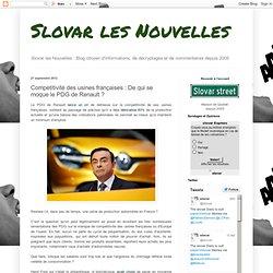 Compétitivité des usines françaises : De qui se moque le PDG de Renault ?