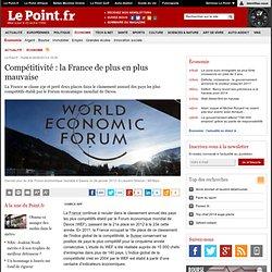 Compétitivité : la France de plus en plus mauvaise