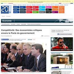 Compétitivité: Des économistes critiques envers le Pacte du gouvernement