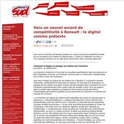 Vers un nouvel accord de compétitivité à Renault : le digital comme prétexte - SUD Renault Guyancourt/Aubevoye