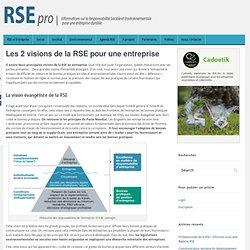 Les 2 visions de la RSE pour une entreprise