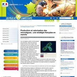 Les pôles de Compétitivité-Production et valorisation des microalgues : une stratégie française en marche-Moteur de croissance et d'emploi