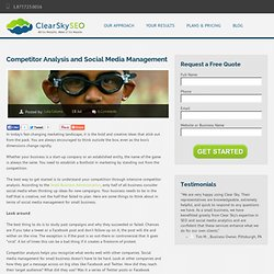 Competitor Analysis Social Media Management