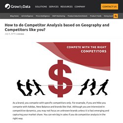 Competitor Analysis On the Basis of Cluster and Geography-GrowbyData
