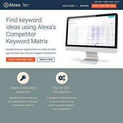 Check Competitor Keywords with Alexa's Competitor Keyword Matrix Tool