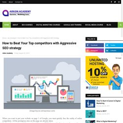 How to Beat Your Top competitors with Aggressive SEO strategy