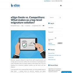 eSign Genie vs. Competitors: What makes us a top-level esignature solution?