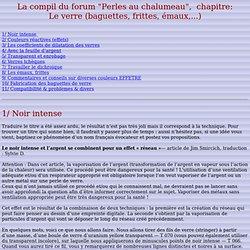 La compil du forum_perles-au-chalumeau_Le verre
