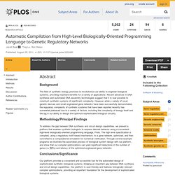 Automatic Compilation from High-Level Biologically-Oriented Programming Language to Genetic Regulatory Networks
