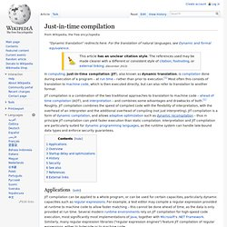 Just-in-time compilation - Wikipedia