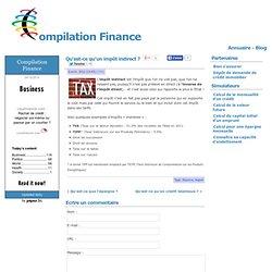 un impôt indirect ?