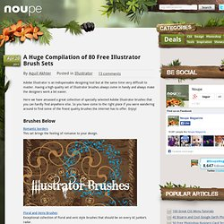 A Huge Compilation of 80 Free Illustrator Brush Sets - Noupe Design Blog