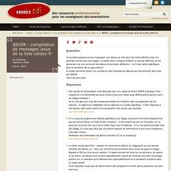 SEGPA : compilation de messages issus de la liste cdidoc-fr