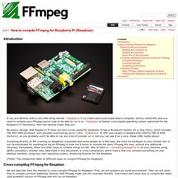 How to compile FFmpeg for Raspberry Pi (Raspbian) – FFmpeg