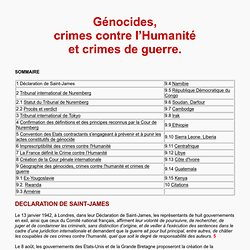 Génocides, crimes contre l'Humanité et crimes de guerre - Du Tribunal international de Nuremberg à la Cour Pénale Internationale