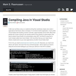 Compiling Java in Visual Studio