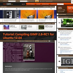 Compiling GIMP 2.8-RC1 for Ubuntu 12.04