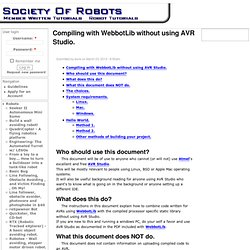 Compiling with WebbotLib without using AVR Studio. | Member Robot Tutorials