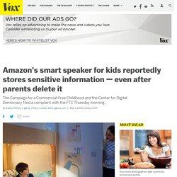 Amazon hit with FTC complaint over Echo Dot Kids Edition privacy violations
