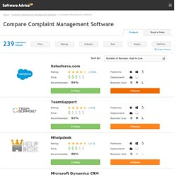Complaint Management Software - 2015 Reviews & Pricing