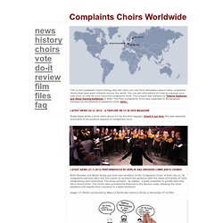 Complaints Choirs of the World : Home