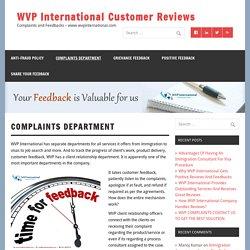 WVP Complaints