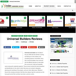 Universal Builders A Forgery Home Developers in Bangalore