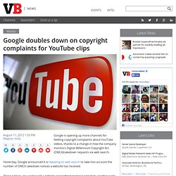 YouTube may escape Google's punishment for too many DMCA take-downs