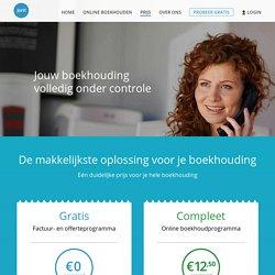 Compleet online boekhoudprogramma voor € 12,50 p/m