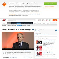 Compleet interview met Julian Assange