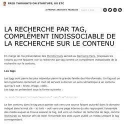 La recherche par tag, complément indissociable de la recherche sur le contenu
