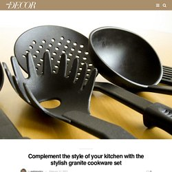 Complement the style of your kitchen with the stylish granite cookware set - Woe Decor