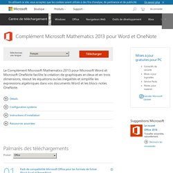 Download Complément Microsoft Mathematics 2013 pour Word et OneNote from Official Microsoft Download Center