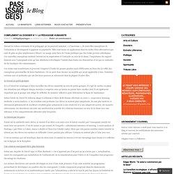 complement au dossier n°1: la pédagogie humaniste