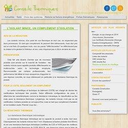 L'isolant mince, un complément d'isolation - Conseils Thermiques