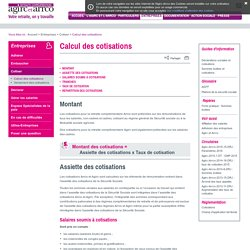retraite complémentaire AGIRC-ARRCOCalcul des cotisations