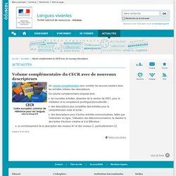 Volume complémentaire du CECR avec de nouveaux descripteurs-Langues vivantes-Éduscol