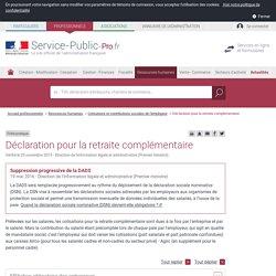 Déclaration pour la retraite complémentaire - professionnels