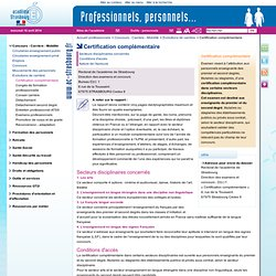 Certification complémentaire - Professionnels