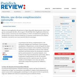 Bitcoin, une devise complémentaire universelle