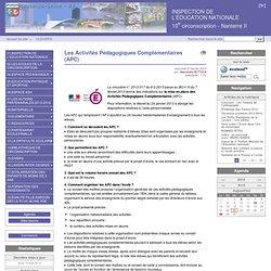 Les Activités Pédagogiques Complémentaires (APC) - INSPECTION DE L'EDUCATION NATIONALE 10ème Circonscription Nanterre 2.