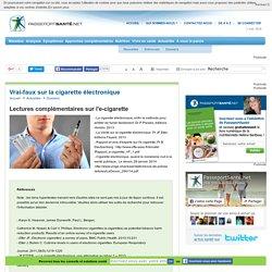 Lectures complémentaires sur l'e-cigarette