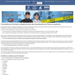 L'inscription sur les listes complémentaires des ressortissants de l'Union européenne / Comment voter ? / Elections