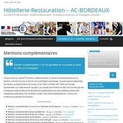 Mentions complémentaires – Hôtellerie-Restauration – AC-BORDEAUX