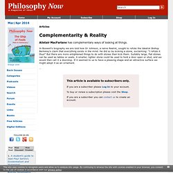 Complementarity & Reality