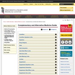 Complementary and Alternative Medicine Index (CAM)
