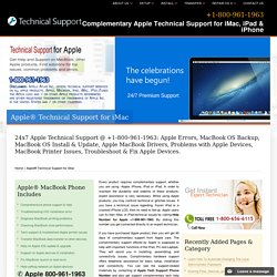 800-961-1963-Complementary Apple® Technical Support for iMac, iPad & iPhone