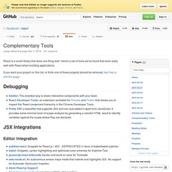 Complementary Tools · facebook/react Wiki