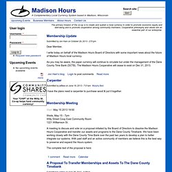 Madison Hours | A Complementary Local Currency System based in Madison, Wisconsin